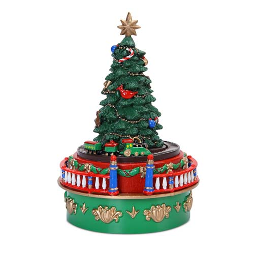 Mr Christmas Mini Musical Christmas Tree with Train