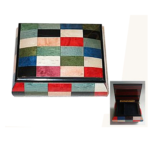 Modern Design Multi-Colored Rectangles Inlay Music
