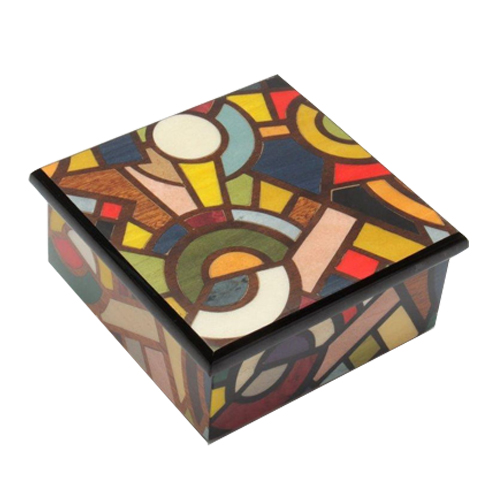 Modern Design, Multi-colored Sunburst music box