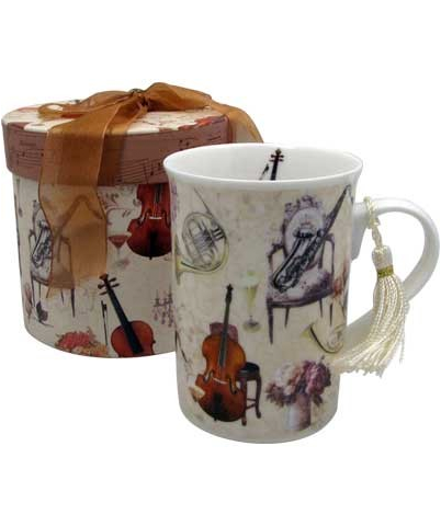 Music coffee mug with gift box