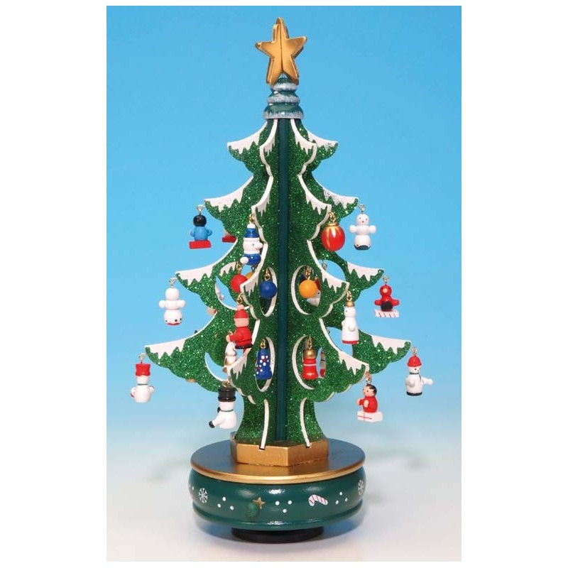 Assembled and trimmed Glitter Christmas Tree Kit