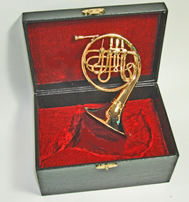 "5"" Miniature French Horn and Case"