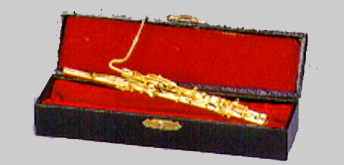 Miniature Bassoon gold finish with case