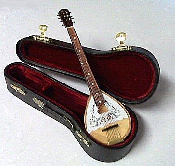 Miniature Bouzouki and case