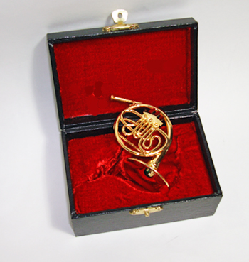 Miniature French Horn and case