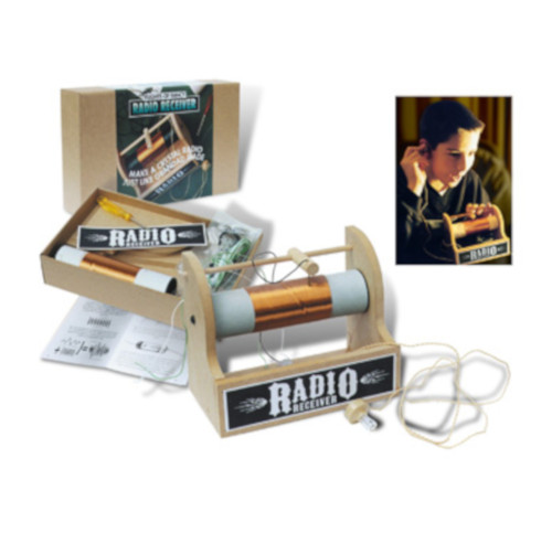 Make your own crystal radio set. Kit by Flights of Fancy