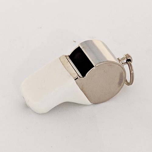 Nickel Plated Whistle with protective guard