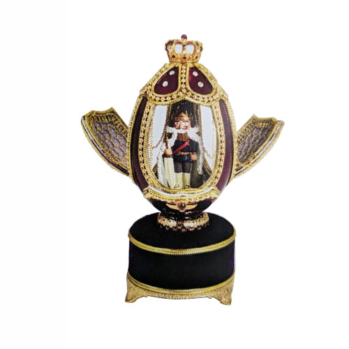 Music box with Nutcracker in Goose Egg