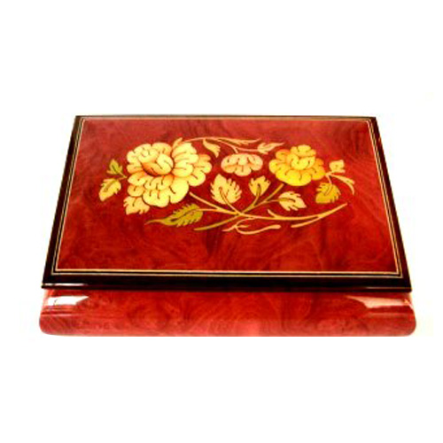 Oval Floral Design on Wine Box
