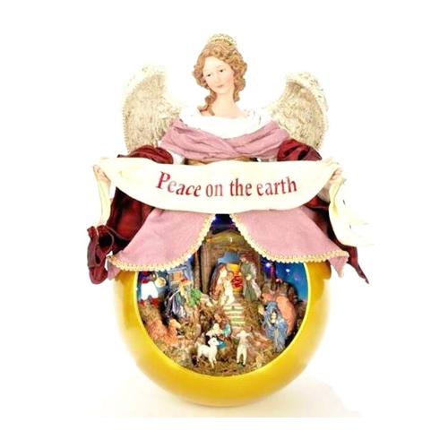 Peace on Earth Musical Christmas Angel