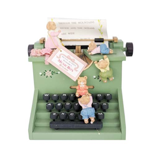Music Box Bear Typewriter by Pelman