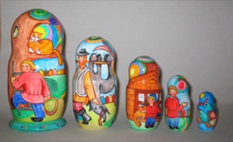 Peter and the Wolf Nesting Dolls