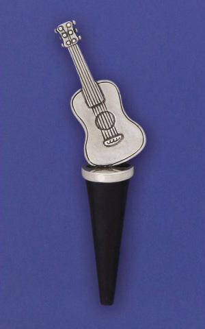 Bottle Stopper with Pewter Guitar by Basic Spirit