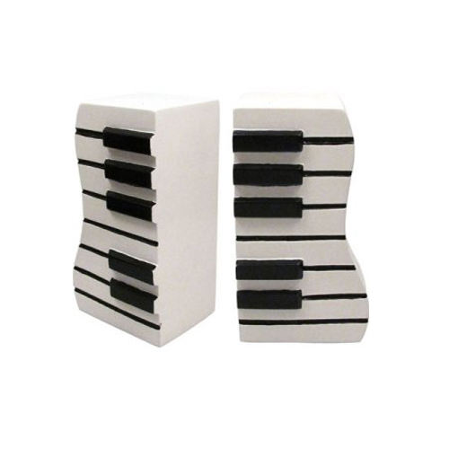 Piano Keyboard Bookends