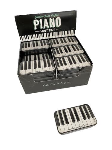 carton of 24 Piano Keyboard Mint Tins