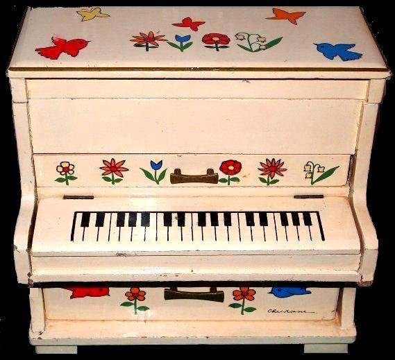 piano jewelry box Stained glass jewelry box