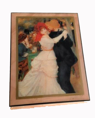 Renoir's Dance at Bougival Music Box by Ercolano