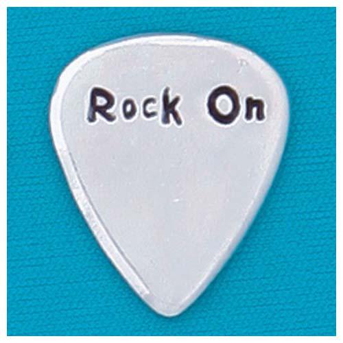 Rock on Guitar Pick by Basic Spirit