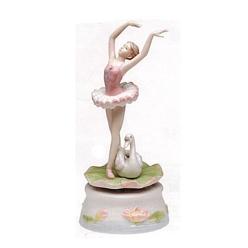 Revolving Ballerina with Swan