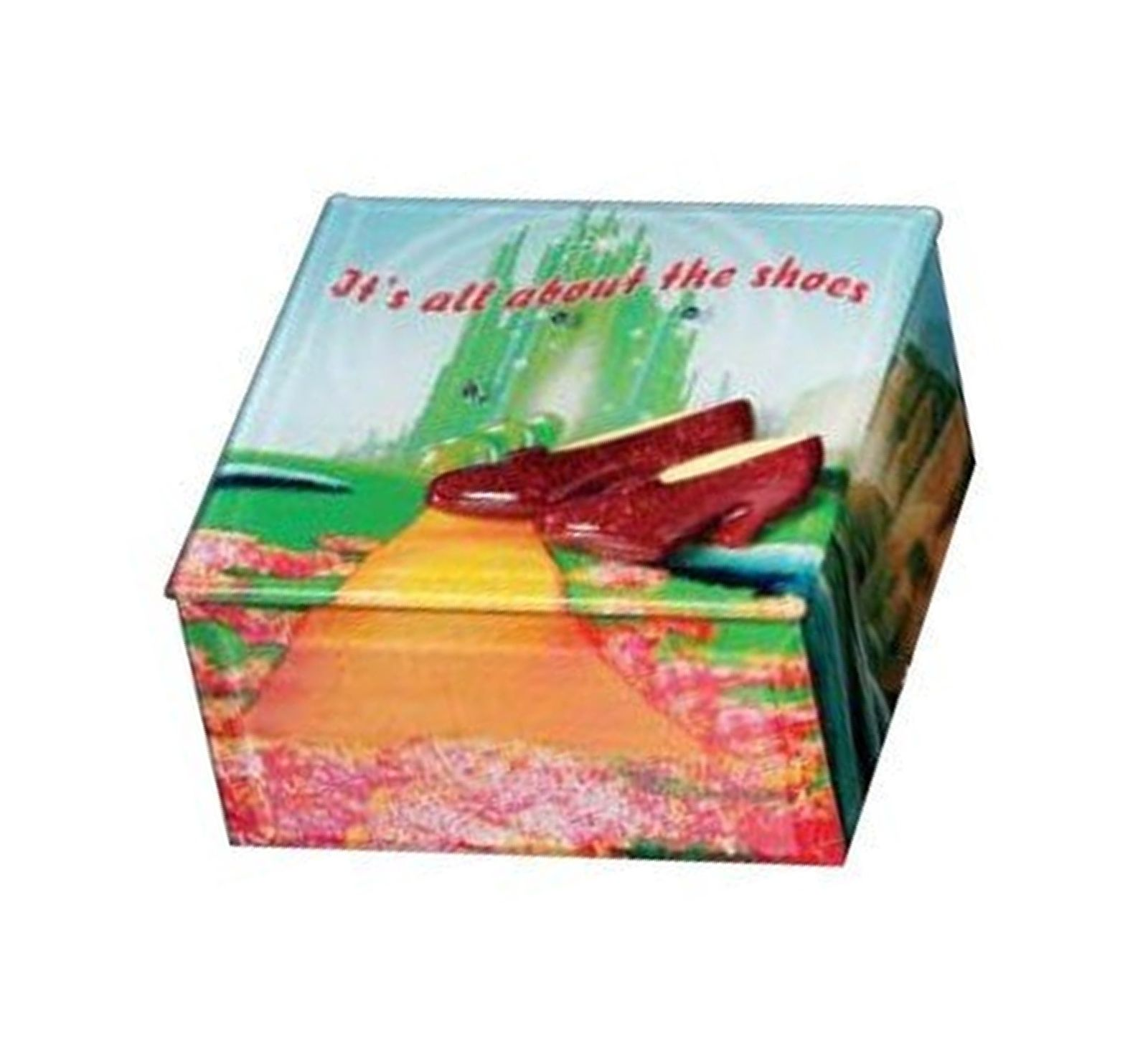 Ruby Shoes Glass Music Box