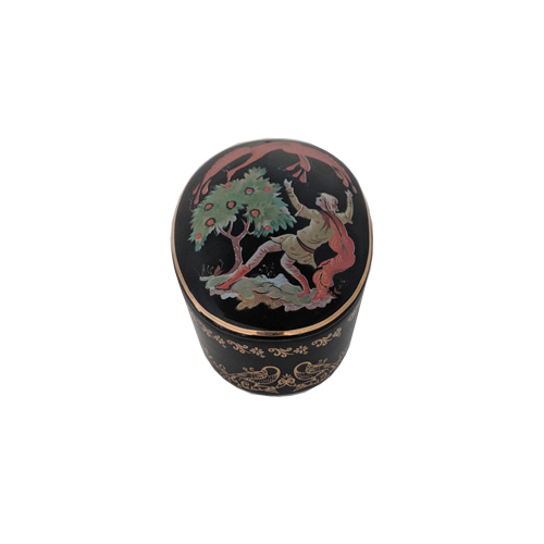 Russian Porcelain Miniature Music Box - Firebird