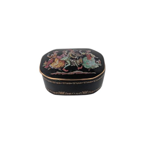 Russian Porcelain Miniature Music Box - Pulcinella