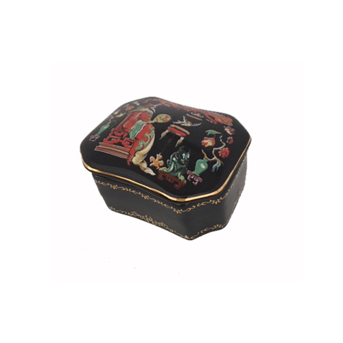 Russian Porcelain Miniature Music Box - Song of the Nightingale