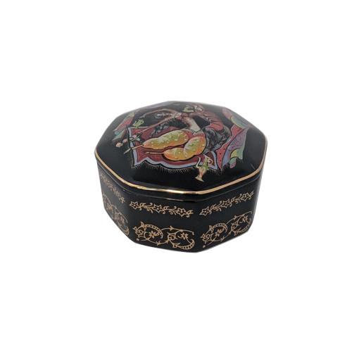 Russian Porcelain Miniature Music Box - Scheherazade