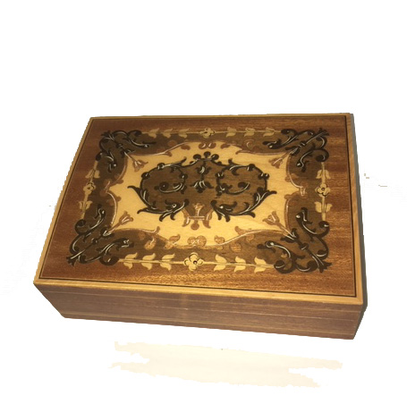 Vintage Small Intricate Italian Inlay Music Box