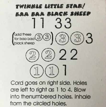 Two tunes to play on little lady harmonica