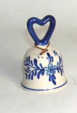 Delft Bell with Heart shaped handle