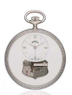 Boegli Adagio, musical pocket watch polladium finish