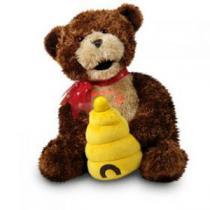 """Hunny""  Honey Bear Animated Plush Musical  by Cuddle Barn"