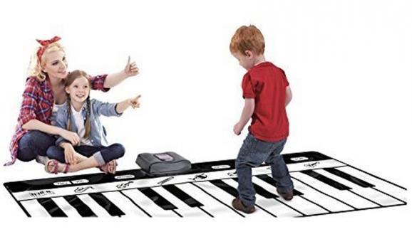 large piano keyboard play mat