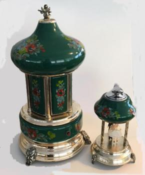 Green Carousel Mosque and Lighter Set