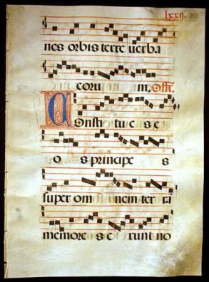 Gregorian Chant  illuminated Musical Manuscript