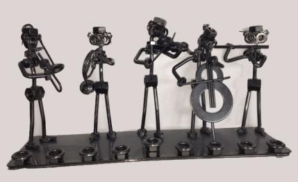 Menorah with Nuts and bolts musicians