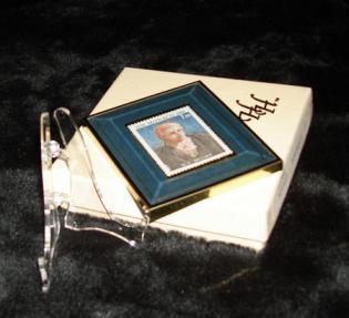 Framed Mozart Commemorative Postage Stamp