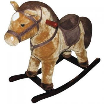 Spft Plush light brown rocking horse