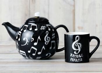 TrebleMaker Teapot and Mug