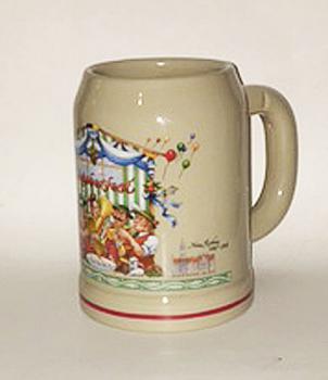Stoneware Beer Mug featuring Oompah Band