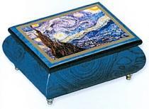 Van Gogh's Starry Night on Blue Music Box