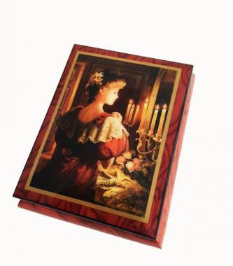 "Brenda Burke's ""Candlelight"" on Wine Colored Box"