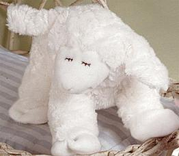 Winky Waggie White Musical Plush Lamb by Gund
