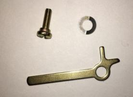 Stop start brass arm with double tooth