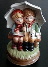 Hummel | Vintage Raindrops Keep Falling Music Box Figurine