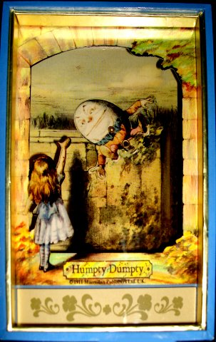 Alice in Wonderland  with Humpty Dumpty - Animated Small Musical Shadow Box