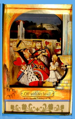 Alice in Wonderland with The Queen of Hearts musical shadow box