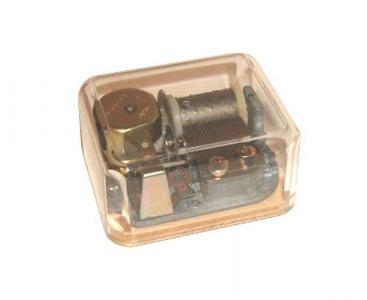 Japanese mechanism in clear plastic casing