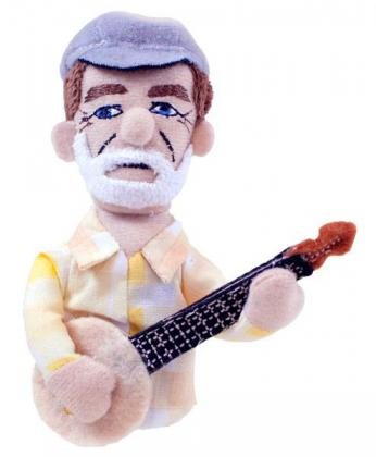 Pete Seeger Magnet and Finger Puppet
